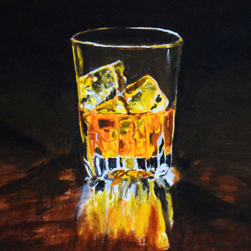 whisky , 12 x 12 inch, nayana b.c,12x12inch,canvas,paintings,conceptual paintings,art deco paintings,illustration paintings,photorealism,paintings for dining room,paintings for living room,paintings for bedroom,paintings for bathroom,paintings for hotel,paintings for kitchen,acrylic color,GAL02908241720