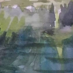 reflection 1, 16 x 12 inch, anjan  laha,16x12inch,brustro watercolor paper,landscape paintings,watercolor,GAL02936141721