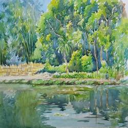 nature, 16 x 12 inch, anjan  laha,16x12inch,canson paper,paintings,landscape paintings,watercolor,GAL02936141722