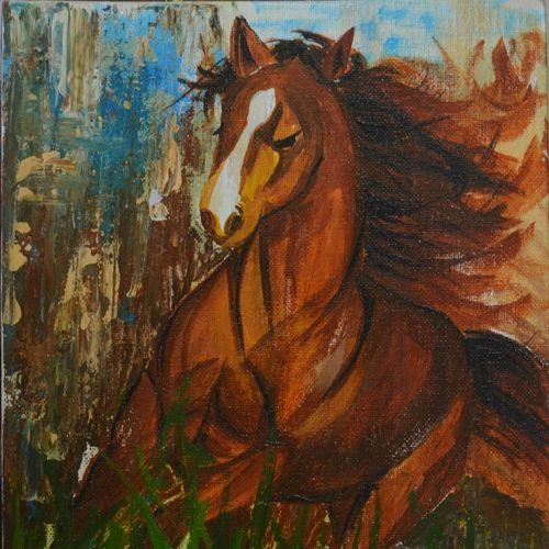 horse painting, 8 x 10 inch, priyanka mantri,8x10inch,canvas,paintings,abstract paintings,wildlife paintings,animal paintings,horse paintings,paintings for dining room,paintings for living room,paintings for office,paintings for hotel,acrylic color,GAL02951741764