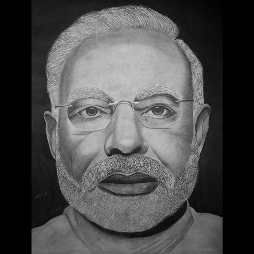 narendra modi, 22 x 28 inch, anek a,22x28inch,ivory sheet,paintings for dining room,paintings for living room,paintings for office,paintings for hotel,paintings for school,paintings for hospital,figurative drawings,photorealism drawings,portrait drawings,realism drawings,surrealism drawings,paintings for dining room,paintings for living room,paintings for office,paintings for hotel,paintings for school,paintings for hospital,charcoal,pencil color,graphite pencil,GAL02952641775