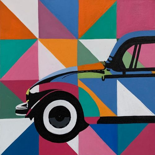 block printed car, 12 x 12 inch, shreya khandelwal,12x12inch,canvas,paintings,cityscape paintings,modern art paintings,conceptual paintings,paintings for dining room,paintings for living room,paintings for bedroom,paintings for office,paintings for kids room,paintings for school,paintings for dining room,paintings for living room,paintings for bedroom,paintings for office,paintings for kids room,paintings for school,acrylic color,GAL02716441779