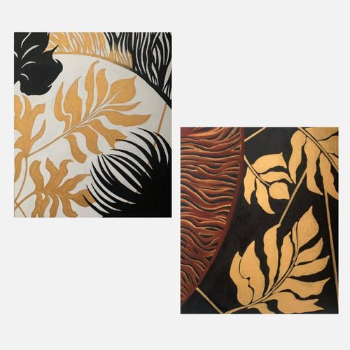 a set of golden leaves, 12 x 14 inch, shreya khandelwal,12x14inch,canvas,paintings,abstract paintings,multi piece paintings,paintings for dining room,paintings for living room,paintings for bedroom,paintings for office,paintings for kids room,paintings for hotel,paintings for school,paintings for dining room,paintings for living room,paintings for bedroom,paintings for office,paintings for kids room,paintings for hotel,paintings for school,acrylic color,GAL02716441780