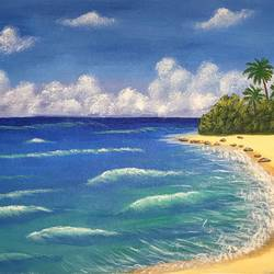 beach, 22 x 12 inch, akanksha p,22x12inch,canvas,paintings,landscape paintings,paintings for dining room,paintings for living room,paintings for bedroom,paintings for office,paintings for bathroom,paintings for kids room,paintings for hotel,paintings for kitchen,paintings for school,paintings for hospital,acrylic color,GAL02908341805