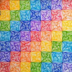 rainbow zentangle, 14 x 14 inch, srimonti dutta,14x14inch,handmade paper,drawings,abstract drawings,abstract expressionism drawings,art deco drawings,fine art drawings,modern drawings,paintings for dining room,paintings for living room,paintings for bedroom,paintings for office,paintings for kids room,paintings for hotel,paintings for school,paintings for hospital,pen color,GAL02833841826