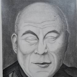 his holiness the dalai lama sketch, 16 x 11 inch, krishna agarwala,16x11inch,drawing paper,paintings for living room,paintings for office,paintings for school,figurative drawings,fine art drawings,photorealism drawings,portrait drawings,realism drawings,surrealism drawings,buddha drawings,paintings for living room,paintings for office,paintings for school,graphite pencil,paper,GAL02921341828
