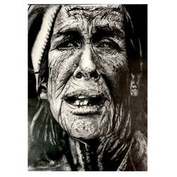 the old lady, 11 x 15 inch, abhishek kumar,11x15inch,paper,drawings,portrait drawings,graphite pencil,paper,GAL02958741829