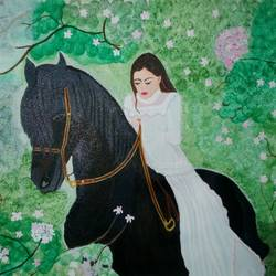 princes on ride, 24 x 18 inch, shweta singh,wildlife paintings,paintings for bedroom,canvas,acrylic color,24x18inch,GAL012424183