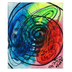 spirals, 14 x 16 inch, abhishek kumar,14x16inch,canvas,abstract paintings,acrylic color,GAL02958741834