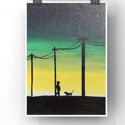 nature art - night life, 10 x 12 inch, sanch art,10x12inch,canvas,paintings,street art,acrylic color,GAL02966441866