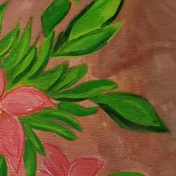 the pink flowers, 15 x 10 inch, abhik mahanti,15x10inch,canvas,paintings,flower paintings,still life paintings,acrylic color,pencil color,GAL0404441868