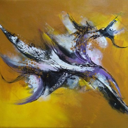 purple abstract, 24 x 20 inch, arpana d,abstract paintings,paintings for living room,canvas,acrylic color,24x20inch,GAL09644187