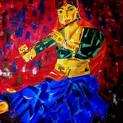 radha, 28 x 28 inch, nayana b.c,28x28inch,canvas,paintings,abstract paintings,modern art paintings,religious paintings,art deco paintings,cubism paintings,radha krishna paintings,love paintings,paintings for dining room,paintings for living room,paintings for bedroom,paintings for office,paintings for kids room,paintings for hotel,paintings for school,acrylic color,GAL02908241876