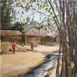 village view, 11 x 13 inch, soyli saha,11x13inch,thick paper,landscape paintings,nature paintings | scenery paintings,photorealism paintings,photorealism,realism paintings,paintings for dining room,paintings for living room,paintings for bedroom,paintings for office,paintings for kids room,paintings for hotel,paintings for kitchen,paintings for school,paintings for dining room,paintings for living room,paintings for bedroom,paintings for office,paintings for kids room,paintings for hotel,paintings for kitchen,paintings for school,watercolor,GAL0606541879
