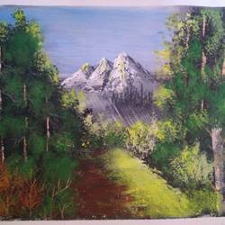 rising sunlight , 12 x 10 inch, sai amale ,12x10inch,canvas,paintings,landscape paintings,nature paintings | scenery paintings,paintings for dining room,paintings for living room,paintings for bedroom,paintings for office,paintings for hotel,paintings for kitchen,acrylic color,GAL02904141884