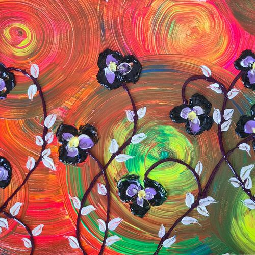 black pancy flowers, 14 x 11 inch, esther sandhya a,14x11inch,canvas,paintings,abstract paintings,flower paintings,landscape paintings,modern art paintings,nature paintings | scenery paintings,art deco paintings,contemporary paintings,paintings for dining room,paintings for living room,paintings for bedroom,paintings for office,paintings for bathroom,paintings for kids room,paintings for hotel,paintings for kitchen,paintings for school,paintings for hospital,acrylic color,GAL0166341886