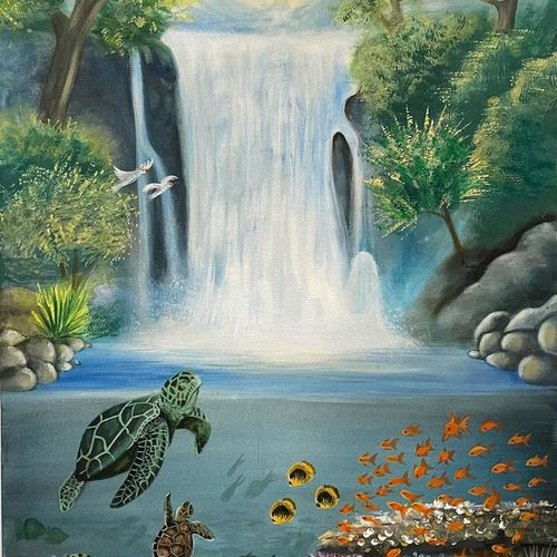 north wall lucky painting, 24 x 36 inch, gaurangi gupta,24x36inch,canvas,paintings,abstract paintings,wildlife paintings,conceptual paintings,nature paintings | scenery paintings,art deco paintings,animal paintings,paintings for living room,paintings for office,acrylic color,GAL02814641909