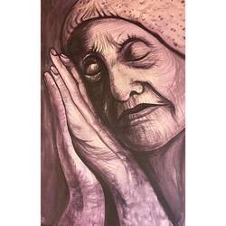 mother teresa- the humble one painting by gaurangi gupta, 24 x 36 inch, gaurangi gupta,24x36inch,canvas,paintings,abstract paintings,folk art paintings,landscape paintings,portrait paintings,photorealism,mother teresa paintings,paintings for living room,acrylic color,GAL02814641918