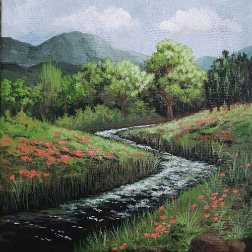 hills and dales, 12 x 12 inch, aparna joshi,12x12inch,canvas,paintings,landscape paintings,nature paintings | scenery paintings,impressionist paintings,paintings for dining room,paintings for living room,paintings for bedroom,paintings for office,paintings for hotel,paintings for hospital,paintings for dining room,paintings for living room,paintings for bedroom,paintings for office,paintings for hotel,paintings for hospital,acrylic color,GAL01573641943