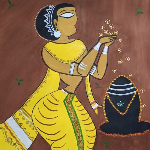 worship, 22 x 28 inch, ramya arumugam,22x28inch,thick paper,paintings,abstract paintings,figurative paintings,paintings for dining room,paintings for living room,paintings for office,paintings for kids room,paintings for hotel,paintings for kitchen,paintings for school,acrylic color,pastel color,pen color,pencil color,poster color,ball point pen,GAL01066141948