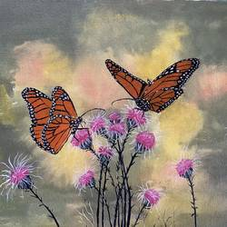 butterflies in garden, 16 x 12 inch, surekha .,16x12inch,canvas board,paintings,flower paintings,nature paintings | scenery paintings,animal paintings,paintings for dining room,paintings for living room,paintings for bedroom,paintings for office,paintings for kids room,paintings for hotel,paintings for kitchen,paintings for school,paintings for hospital,acrylic color,GAL02977641967