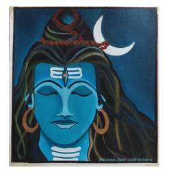 lord shiva, 12 x 12 inch, dnyanada rane,12x12inch,canvas,paintings,modern art paintings,religious paintings,acrylic color,GAL02982641973