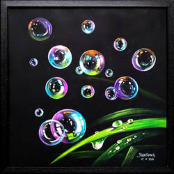 bubbles, 22 x 22 inch, joseph francis,22x22inch,thick paper,realism paintings,realistic paintings,paintings for kids room,paintings for kids room,pastel color,GAL01304441989