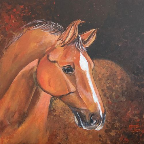 horse painting - by pour expert, 24 x 24 inch, mamta sharma,24x24inch,canvas,paintings,wildlife paintings,animal paintings,horse paintings,paintings for dining room,paintings for living room,paintings for office,paintings for kids room,paintings for dining room,paintings for living room,paintings for office,paintings for kids room,acrylic color,oil color,GAL02913541999