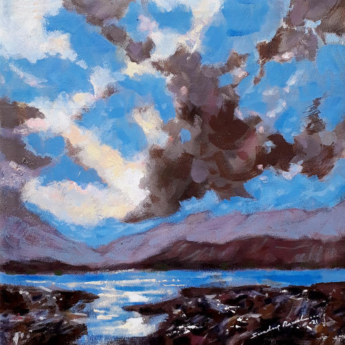 beautiful morning with thick clouds (landscape), 18 x 18 inch, sandeep rawal ,18x18inch,canvas,paintings,abstract paintings,landscape paintings,modern art paintings,nature paintings   scenery paintings,abstract expressionism paintings,contemporary paintings,love paintings,water fountain paintings,paintings for dining room,paintings for living room,paintings for bedroom,paintings for office,paintings for bathroom,paintings for kids room,paintings for hotel,paintings for kitchen,paintings for school,paintings for hospital,acrylic color,GAL0251142011