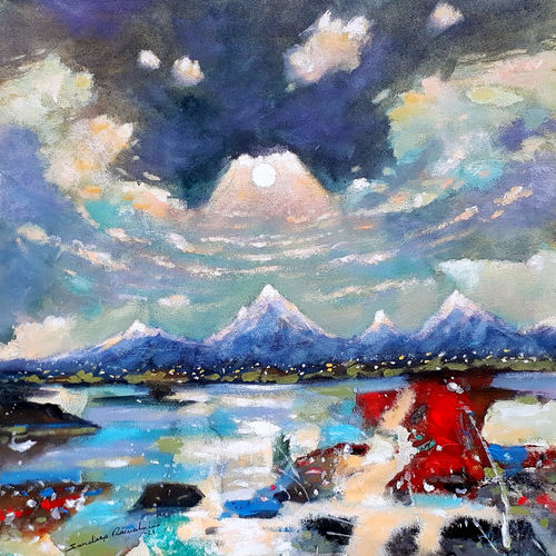 cold morning (landscape), 18 x 18 inch, sandeep rawal ,18x18inch,canvas,paintings,abstract paintings,cityscape paintings,landscape paintings,modern art paintings,nature paintings | scenery paintings,abstract expressionism paintings,art deco paintings,contemporary paintings,realistic paintings,love paintings,paintings for dining room,paintings for living room,paintings for bedroom,paintings for office,paintings for bathroom,paintings for kids room,paintings for hotel,paintings for kitchen,paintings for school,paintings for hospital,acrylic color,GAL0251142017
