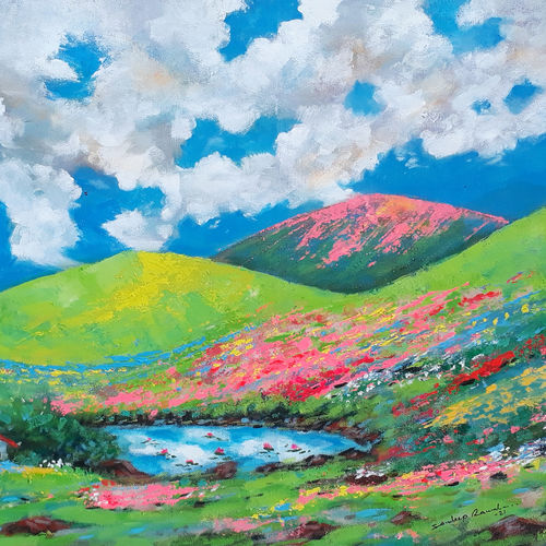 flower valley dreamland (landscape) - 2, 23 x 18 inch, sandeep rawal ,23x18inch,canvas,paintings,abstract paintings,flower paintings,landscape paintings,modern art paintings,nature paintings | scenery paintings,abstract expressionism paintings,art deco paintings,contemporary paintings,realistic paintings,love paintings,water fountain paintings,paintings for dining room,paintings for living room,paintings for bedroom,paintings for office,paintings for bathroom,paintings for kids room,paintings for hotel,paintings for kitchen,paintings for school,paintings for hospital,acrylic color,GAL0251142027
