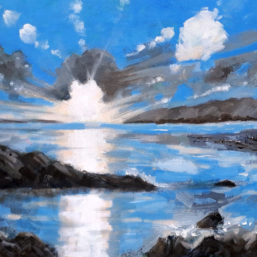 the sunrise on the blue sea ( seascape - landscape) -1, 30 x 18 inch, sandeep rawal ,30x18inch,canvas,paintings,abstract paintings,cityscape paintings,landscape paintings,modern art paintings,nature paintings | scenery paintings,abstract expressionism paintings,contemporary paintings,realistic paintings,love paintings,paintings for dining room,paintings for living room,paintings for bedroom,paintings for office,paintings for bathroom,paintings for kids room,paintings for hotel,paintings for kitchen,paintings for school,paintings for hospital,acrylic color,GAL0251142030
