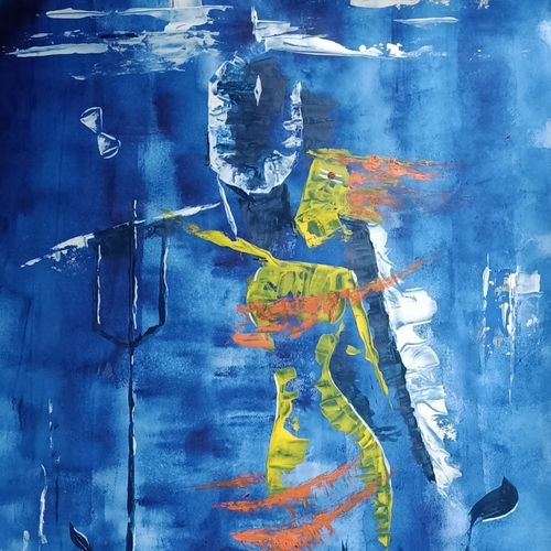 shivshakti, 28 x 22 inch, ramya arumugam,28x22inch,thick paper,paintings,abstract paintings,paintings for dining room,paintings for living room,paintings for office,paintings for kids room,paintings for hotel,paintings for kitchen,paintings for hospital,acrylic color,watercolor,GAL01066142038