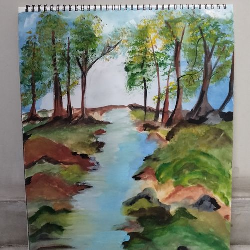 a feel, 11 x 16 inch, chetna khemani,11x16inch,thick paper,nature paintings | scenery paintings,paintings for living room,paintings for bedroom,paintings for living room,paintings for bedroom,watercolor,paper,GAL02992542046