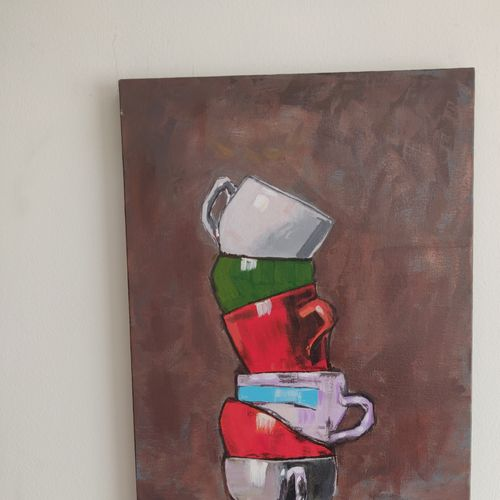 balance in the kitchen, 14 x 18 inch, mamta sharma,14x18inch,canvas,abstract paintings,folk art paintings,landscape paintings,multi piece paintings,nature paintings | scenery paintings,minimalist paintings,photorealism,paintings for dining room,paintings for living room,paintings for bedroom,paintings for office,paintings for dining room,paintings for living room,paintings for bedroom,paintings for office,acrylic color,natural color,pastel color,GAL02913542061