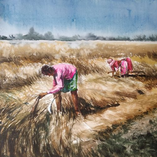 worker, 22 x 13 inch, soyli saha,22x13inch,thick paper,paintings,landscape paintings,paintings for dining room,paintings for living room,paintings for bedroom,paintings for office,paintings for bathroom,paintings for kids room,paintings for hotel,paintings for kitchen,paintings for school,paintings for hospital,watercolor,GAL0606542075