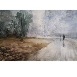 fogg, 22 x 13 inch, soyli saha,22x13inch,thick paper,paintings,landscape paintings,paintings for dining room,paintings for living room,paintings for bedroom,paintings for office,paintings for bathroom,paintings for kids room,paintings for hotel,paintings for kitchen,paintings for school,paintings for hospital,watercolor,GAL0606542076