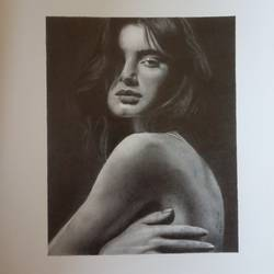 photorealism portrait drawing of madeleine bax, 6 x 8 inch, pranjal sensua,6x8inch,arches paper,drawings,photorealism drawings,paintings for living room,graphite pencil,paper,GAL02995642093