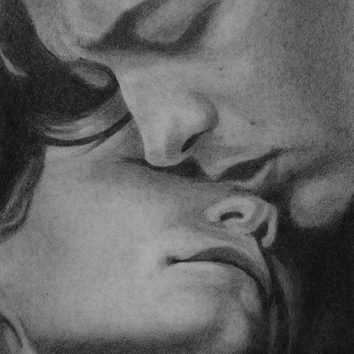 photorealism portrait of man and woman embracing, 8 x 11 inch, pranjal sensua,8x11inch,thick paper,drawings,photorealism drawings,portrait drawings,paintings for living room,paintings for bedroom,paintings for hotel,graphite pencil,paper,GAL02995642094
