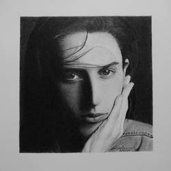 photorealism portrait drawing of chiara vanderstraeten, 6 x 6 inch, pranjal sensua,6x6inch,thick paper,paintings for living room,paintings for hotel,photorealism drawings,portrait drawings,paintings for living room,paintings for hotel,graphite pencil,paper,GAL02995642095