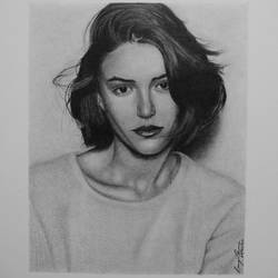 photorealism portrait drawing of marina salaet, 6 x 8 inch, pranjal sensua,6x8inch,thick paper,drawings,photorealism drawings,portrait drawings,paintings for living room,graphite pencil,paper,GAL02995642098