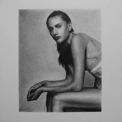 photorealism portrait drawing of natalia markova, 6 x 8 inch, pranjal sensua,6x8inch,thick paper,drawings,photorealism drawings,portrait drawings,paintings for living room,graphite pencil,paper,GAL02995642099