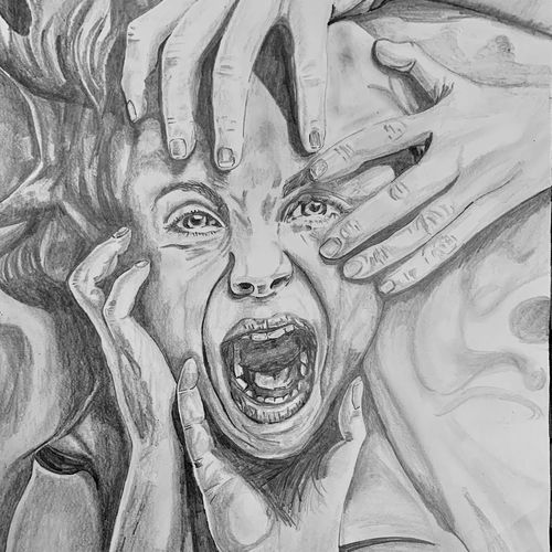 broken dreams, 14 x 20 inch, priyesh soni,14x20inch,ivory sheet,paintings,expressionism paintings,portraiture,paintings for dining room,paintings for living room,paintings for office,paintings for hotel,paintings for school,paintings for hospital,charcoal,graphite pencil,GAL0822742102