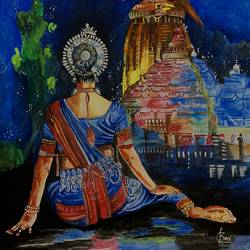 exult in jagannath, 22 x 28 inch, priyesh soni,22x28inch,ivory sheet,paintings,figurative paintings,folk art paintings,religious paintings,portraiture,paintings for dining room,paintings for living room,paintings for office,paintings for hotel,paintings for school,paintings for hospital,acrylic color,GAL0822742103