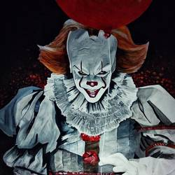 pennywise - it, 22 x 28 inch, priyesh soni,22x28inch,ivory sheet,paintings,figurative paintings,portrait paintings,portraiture,paintings for dining room,paintings for living room,paintings for office,paintings for hotel,paintings for kitchen,paintings for school,paintings for hospital,acrylic color,GAL0822742106
