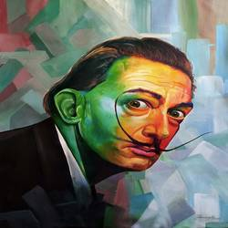 salvador dali, 36 x 48 inch, muhammad haneepha varikodan house road,36x48inch,canvas,paintings,abstract paintings,figurative paintings,portrait paintings,contemporary paintings,paintings for dining room,paintings for living room,paintings for bedroom,paintings for office,paintings for hotel,acrylic color,GAL02923142115
