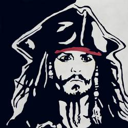 captain jack sparrow, 28 x 22 inch, priyesh soni,28x22inch,thick paper,paintings,portrait paintings,portraiture,paintings for dining room,paintings for living room,paintings for bedroom,paintings for office,paintings for kids room,paintings for hotel,paintings for kitchen,paintings for school,acrylic color,GAL0822742118
