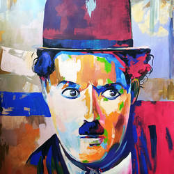 charlie chaplin, 36 x 48 inch, muhammad haneepha varikodan house road,36x48inch,canvas,abstract paintings,paintings for dining room,paintings for living room,paintings for bedroom,paintings for office,paintings for dining room,paintings for living room,paintings for bedroom,paintings for office,acrylic color,GAL02923142120