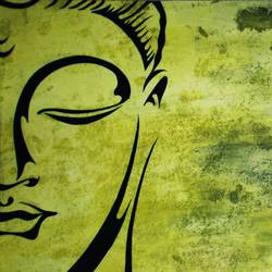 budda, 21 x 11 inch, nitesh suthar,buddha paintings,paintings for living room,thick paper,watercolor,21x11inchreligious,peace,meditation,meditating,gautam,goutam,buddha,green,GAL08464218