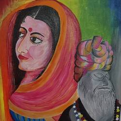 beauty, the shabab, 18 x 24 inch, khushwinder singh,18x24inch,canvas,paintings,folk art paintings,paintings for dining room,paintings for living room,paintings for bedroom,paintings for office,paintings for hotel,paintings for school,acrylic color,oil color,GAL02999642184